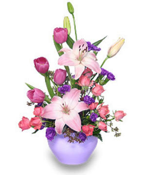 lavendar love bouquet mothers day